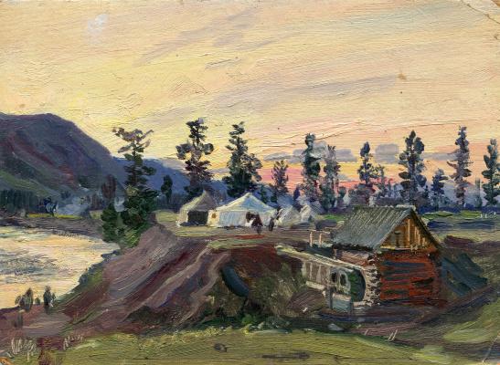 "Vasily Fadeevich Demin. Etude ""Camp camp"""