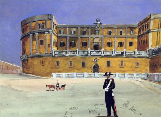 Alexander Alexandrovich Deineka. Square in Rome