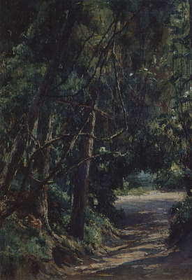 Nikolai Nikolaevich Ge. Alley in the old Park