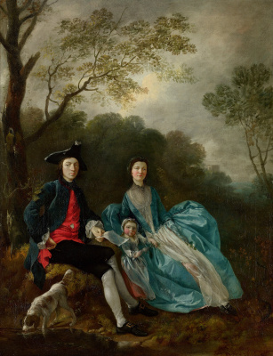 Thomas Gainsborough. Self-portrait with his wife Margaret and eldest daughter Mary