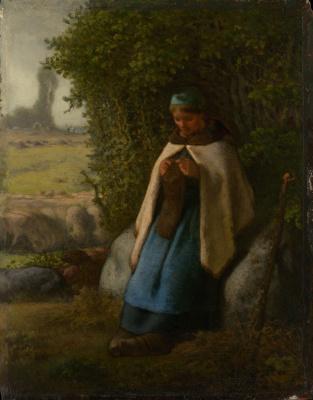 Jean-François Millet. Shepherdess Seated on a Rock