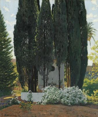 Santiago Rusignol. Cypress fountain