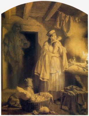 Артур Гротгер. Мать с ребенком