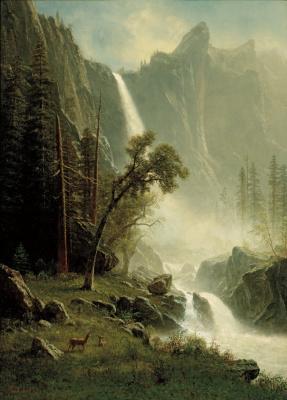 Вуаль невесты, водопад в Йосемити
