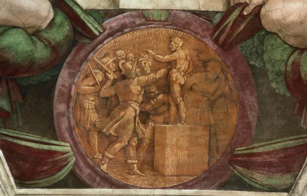 "Michelangelo Buonarroti. Locket ""the destruction of the statues of Baal"""