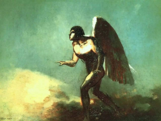 Odilon Redon. The winged man (the Fallen angel)