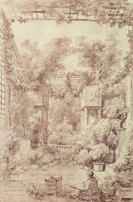 Jean-Honore Fragonard. Winter garden