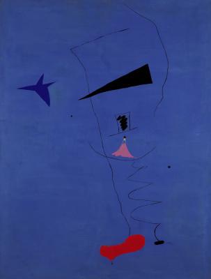 Joan Miro. Peinture (Étoile Bleue)