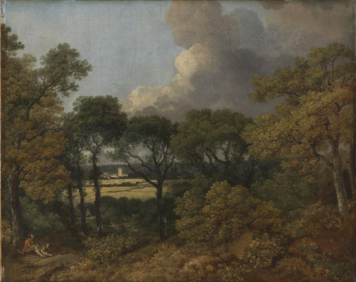 Thomas Gainsborough. Forest landscape with a peasant resting