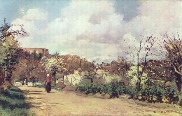 Camille Pissarro. View of Louveciennes