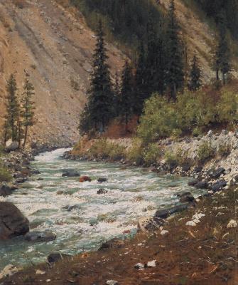 Vasily Vasilyevich Vereshchagin. Mountain stream in Kashmir