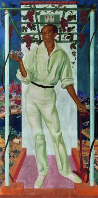 Александр Евгеньевич Яковлев. Портрет мексиканского художника Роберто Монтенегро. 1915