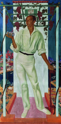 Alexander Yakovlev. Portrait of the Mexican artist Roberto Montenegro. 1915