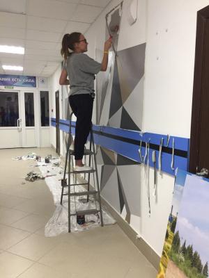 Anastasia Oraina. Wall painting