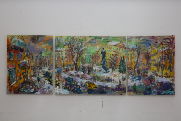 Ilya Pavlovich Spichenkov. Mayakovka. Triptych