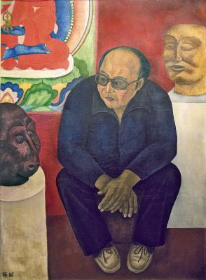 Indira Baldano. Portrait of the sculptor Saranjab Baldano