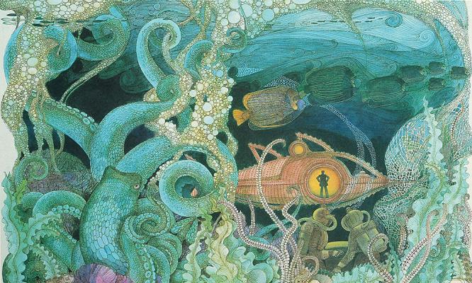 Давид Маккол Джонстон. Под водой
