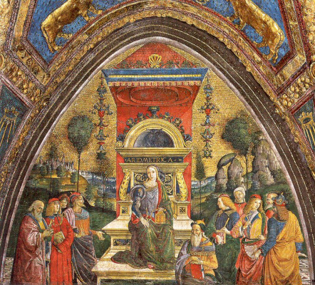 Pinturicchio. The lady on the throne