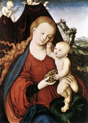 Лукас Кранах Старший. Мадонна с младенцем