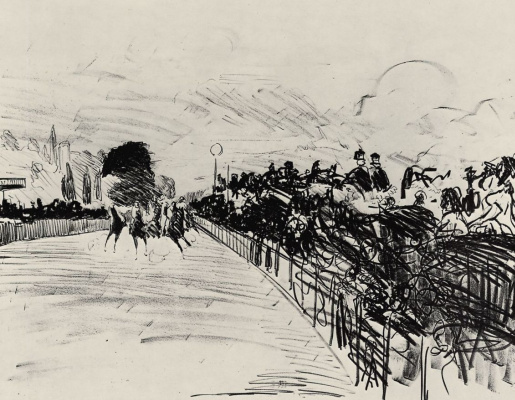 Edouard Manet. At the races