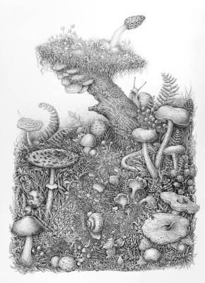Eugene Batyrova-Gauss. Mushroom world