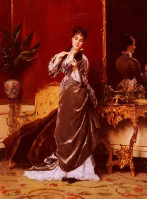 Леонард Густав де Джонгх. Девушка с зеркалом