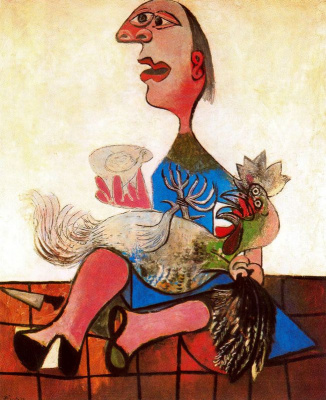 Pablo Picasso. A woman with a cock