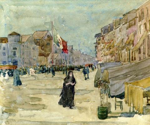Maurice Braziel Prendergast. Venetian scene