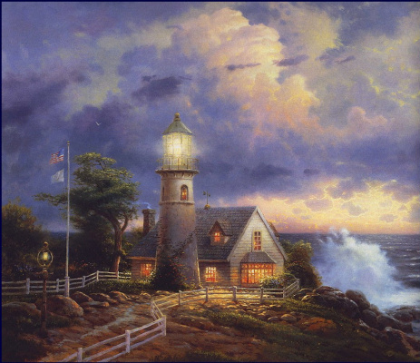 Thomas Kincaid. Light in the storm