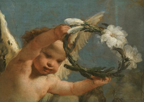 Giovanni Domenico Tiepolo. Ангел с венцом из лилий