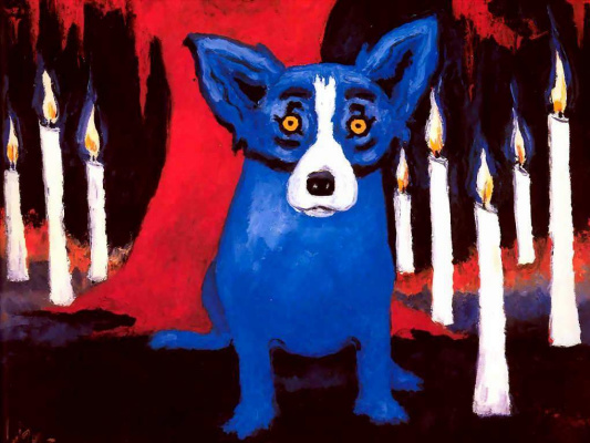 George Rodrigue. Blue собака005