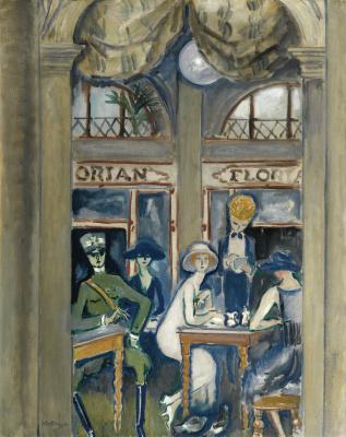 Кес Ван Донген. Кафе Флориан, Венеция. 1921