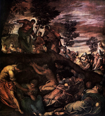 Jacopo (Robusti) Tintoretto. Miracle of bread and fish