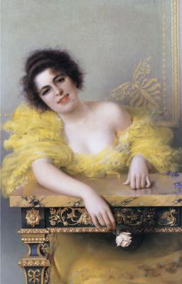 Витторио Коркос. Портрет молодой женщины