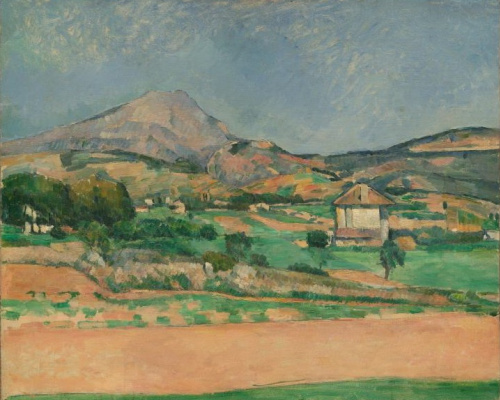 Paul Cezanne. The Plain by Mont Sainte-Victoire, View from Valcros