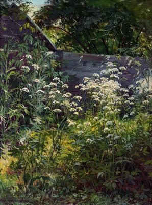 Ivan Ivanovich Shishkin. Area overgrown garden. Goutweed-grass
