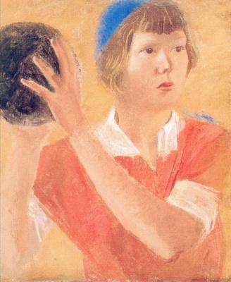 Александр Николаевич Самохвалов. Девушка с мячом