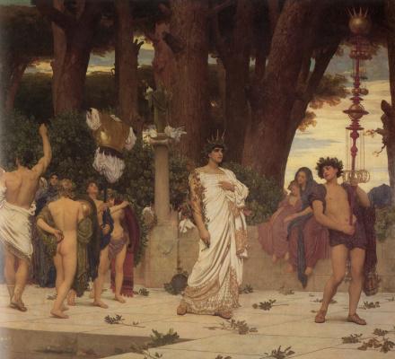 Frederic Leighton. Dafneforia (fragment)
