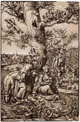 Лукас Кранах Старший. Святое семейство на пути в Египет