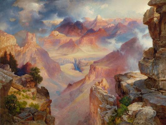 Thomas Moran. The Grand Canyon of Arizona at sunset