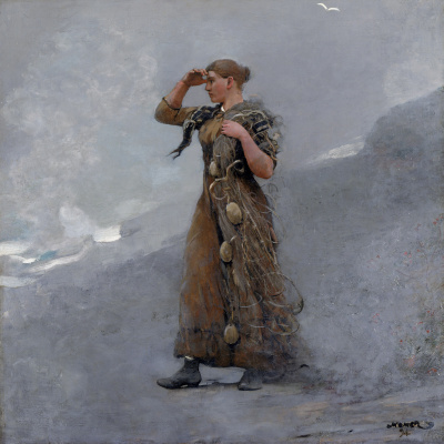 Girl fisherman