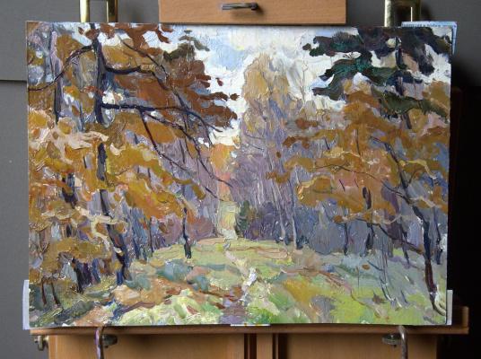 Boris Petrovich Zakharov. Autumn motif in Losiny Island. Etude.