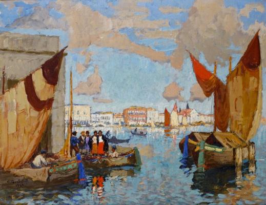 Konstantin Ivanovich Gorbatov. The Grand canal in Venice