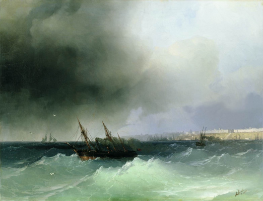Ivan Aivazovsky. View of Odessa from the sea