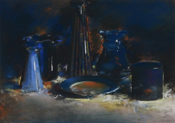 (no name). Still life with a blue plate