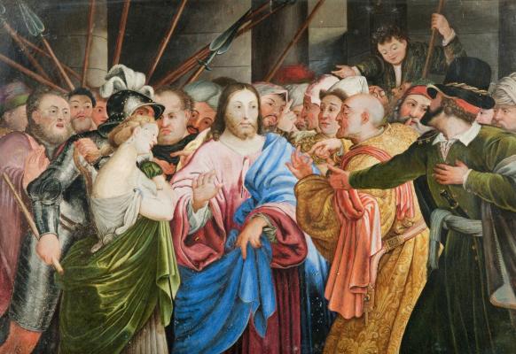 Johann Friedrich Overbeck. Christ and the sinner. Private meeting