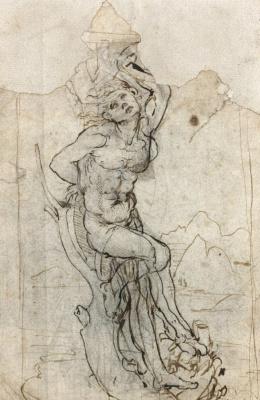Леонардо да Винчи. Святой Себастьян (эскиз)