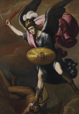 Francisco de Zurbaran. The Archangel Michael defeating the devil