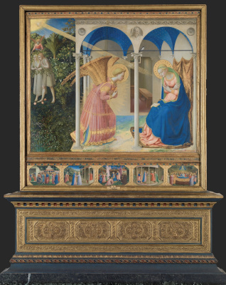 Fra Beato Angelico. An altar with five limits: Mary's Annunciation