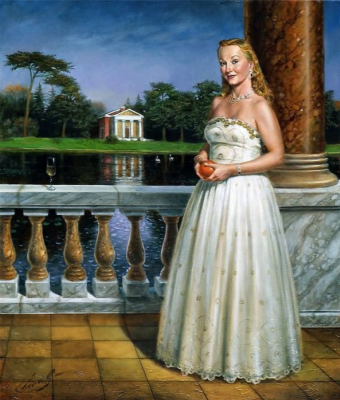 Mikhail Khokhlochev. Lady in white